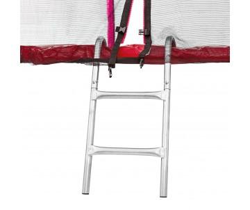 Батут 183 см з подвійними ногами з сіткою та драбинкою червоний