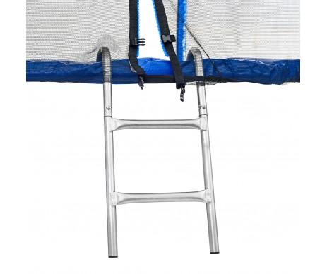 Батут 183 см з подвійними ногами з сіткою та драбинкою синій