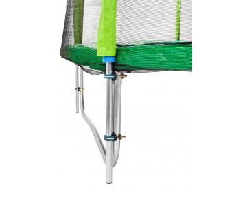 Батут 252 см з подвійними ногами з сіткою та драбинкою зелений