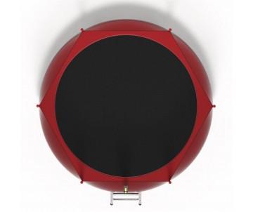 Батут 183 см червоний з сіткою та драбинкою