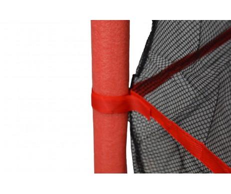 Батут 140 см з сіткою червоний New