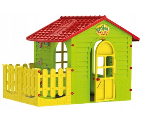 Дитячий пластиковий будиночок Mochtoys з терасою