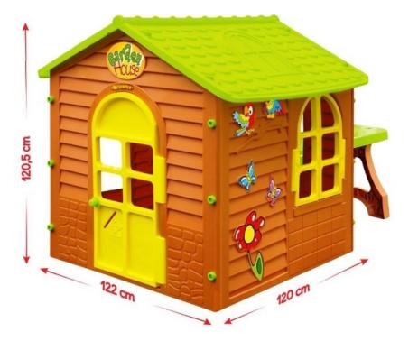 Дитячий пластиковий будиночок Mochtoys + столик + табурет
