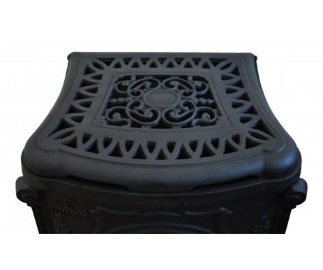 Піч буржуйка чугунна подвійна стінка Black 9 кВт