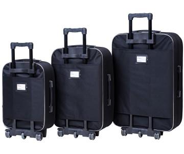 Набір валіз Style 3 штуки чорно – рожевий