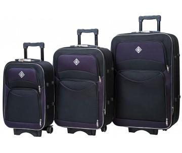 Набір валіз Style 3 штуки чорно –фіолетовий