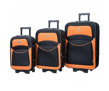 Набір дорожніх валіз Style 3 штуки чорно – оранжевий