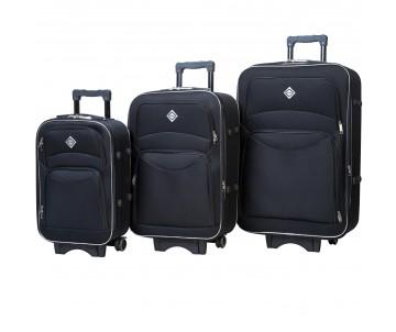 Набір дорожніх валіз Style 3 штуки чорний