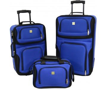 Набір валіз Best 2 шт і сумка синій