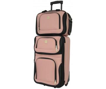 Комплект валіза і сумка Best середній рожевий