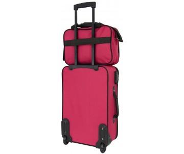 Комплект валіза і сумка Best маленький вишневий
