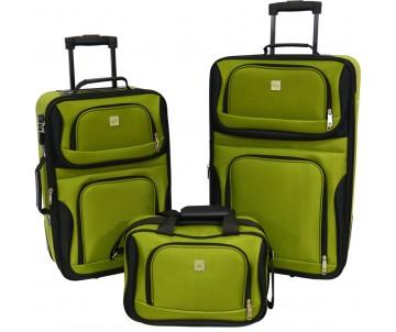 Набір валіз Best 2 шт і сумка зелений