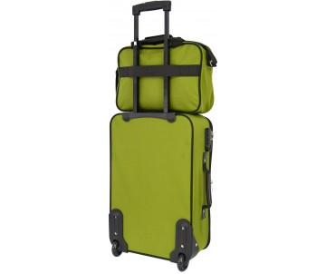 Комплект валіза і сумка Best маленький зелений