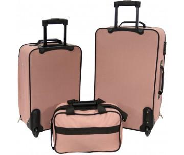Набір валіз Best 2 шт і сумка рожевий