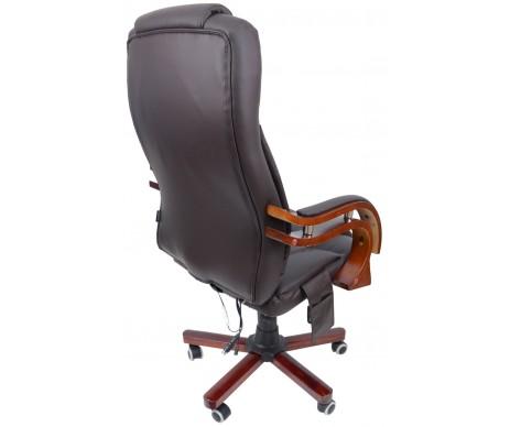 Крісло офісне Prezydent з масажером Brown