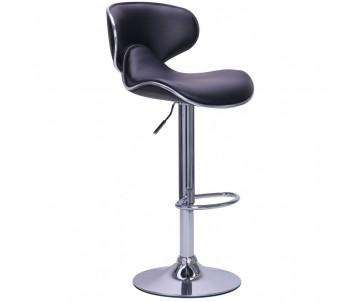 Барний стілець зі спинкою B-678 чорний
