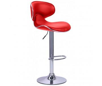 Барний стілець зі спинкою B-678 червоний