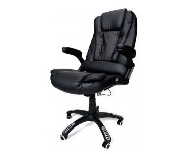 Крісло AV01MH Black масаж/підігрів