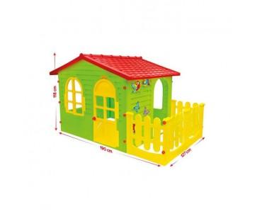 Дитячий будиночок з терасою код 06